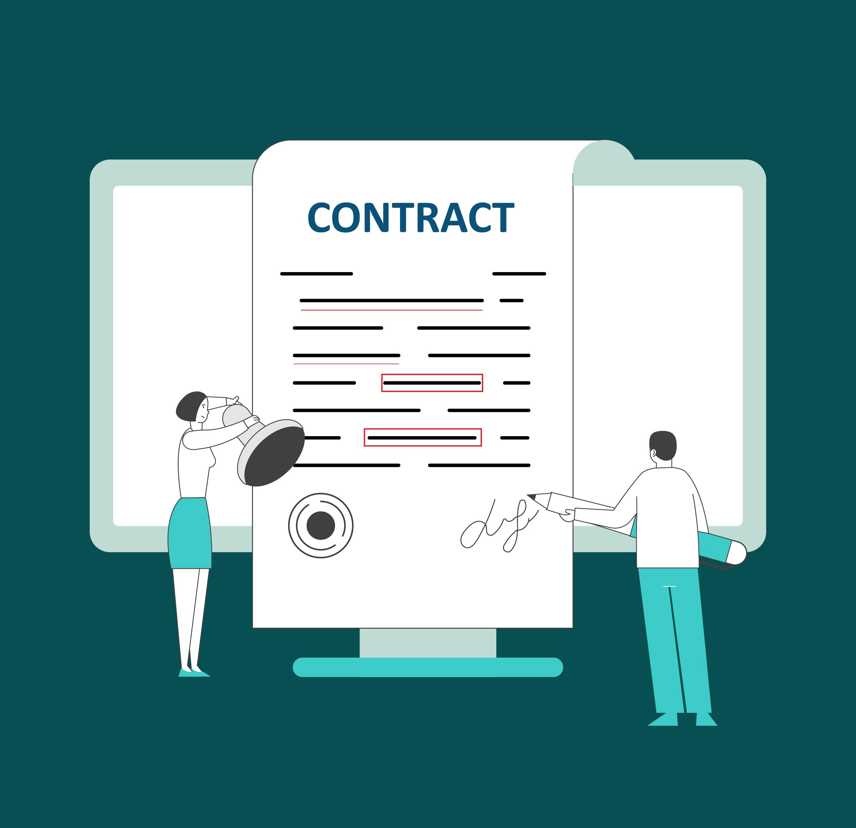 Ultria - Digital Contract Management - Web illustration